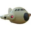 Stressball shaped aeroplane with lights   Aeroplane with lights